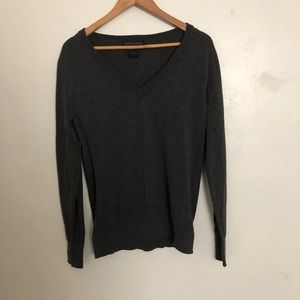 American Giant merino wool and cotton v neck sweater size small